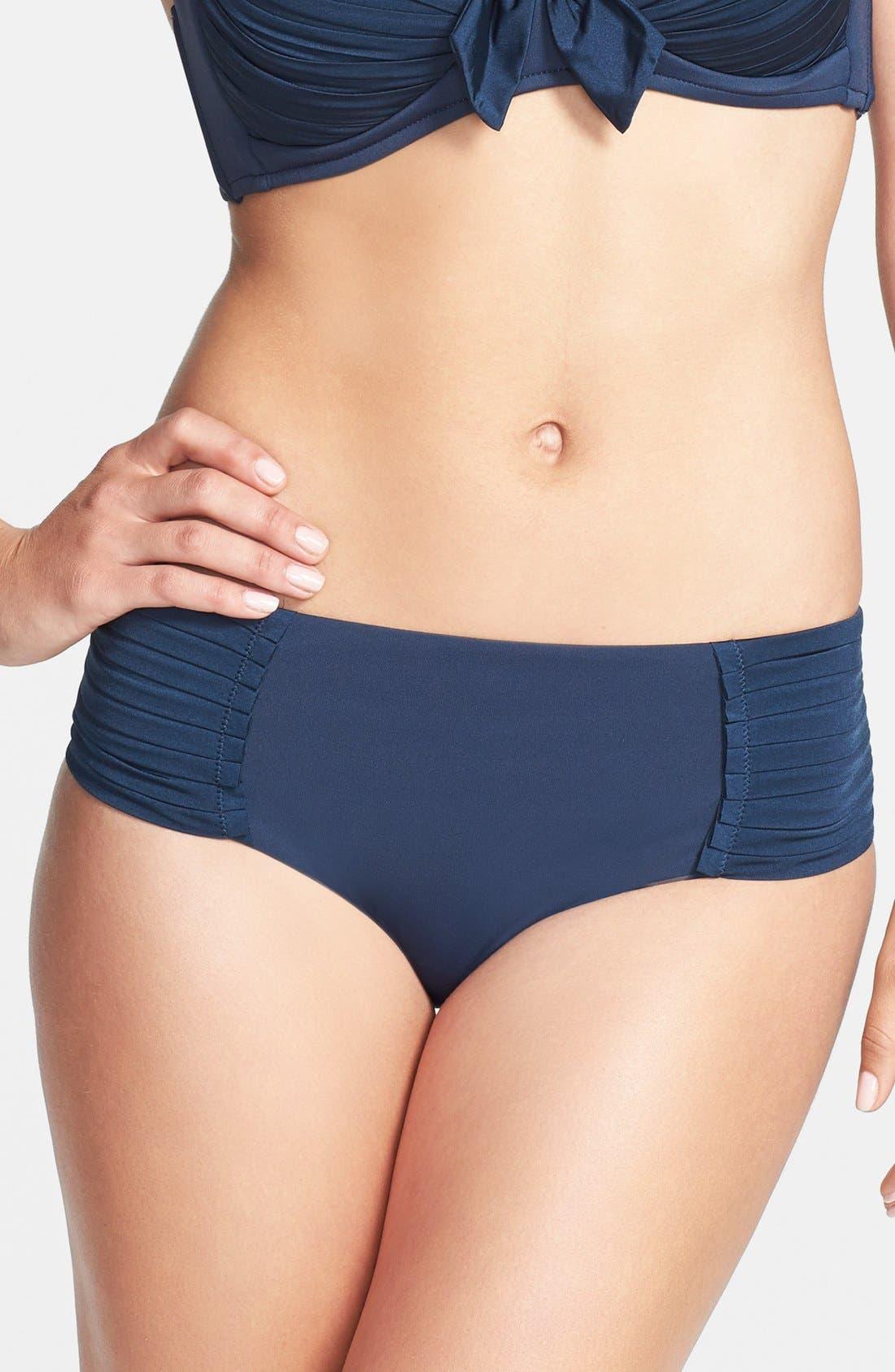 Alternate Image 1 Selected - Seafolly 'Pleated Retro' Bikini Bottoms