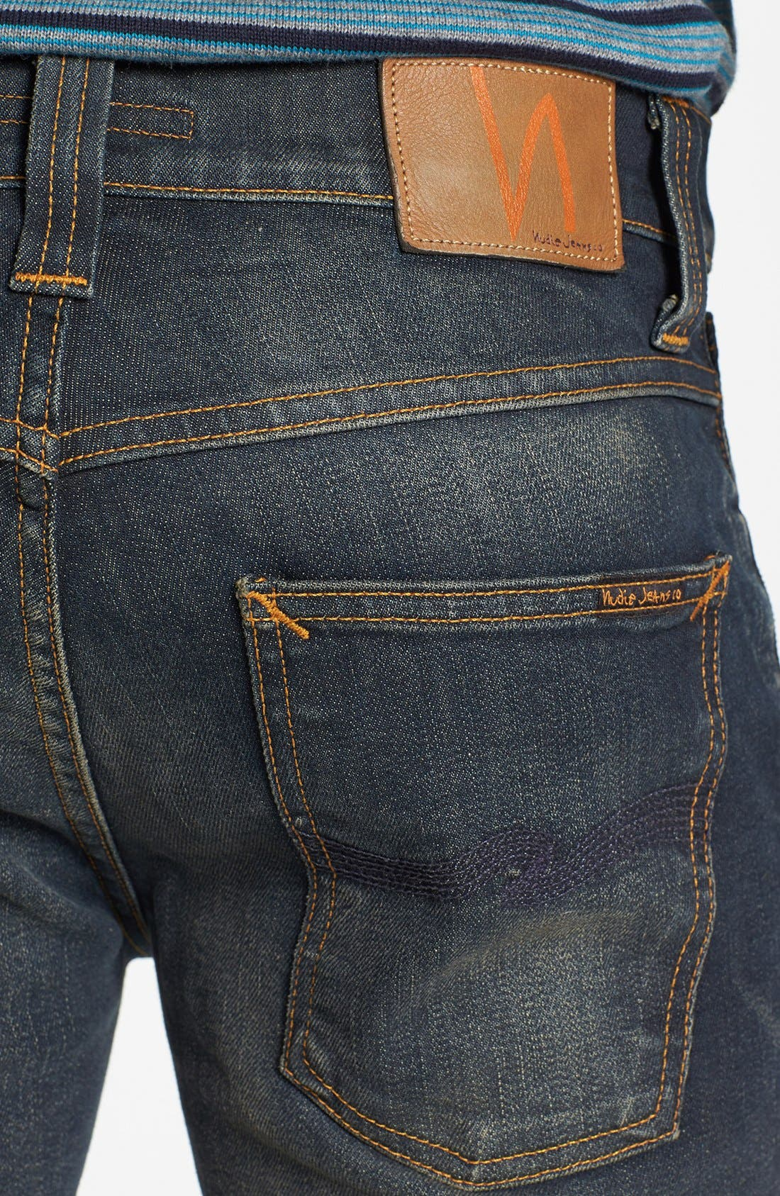 Alternate Image 4  - Nudie Jeans 'Thin Finn' Skinny Fit Jeans (Organic Worn In Pepper)