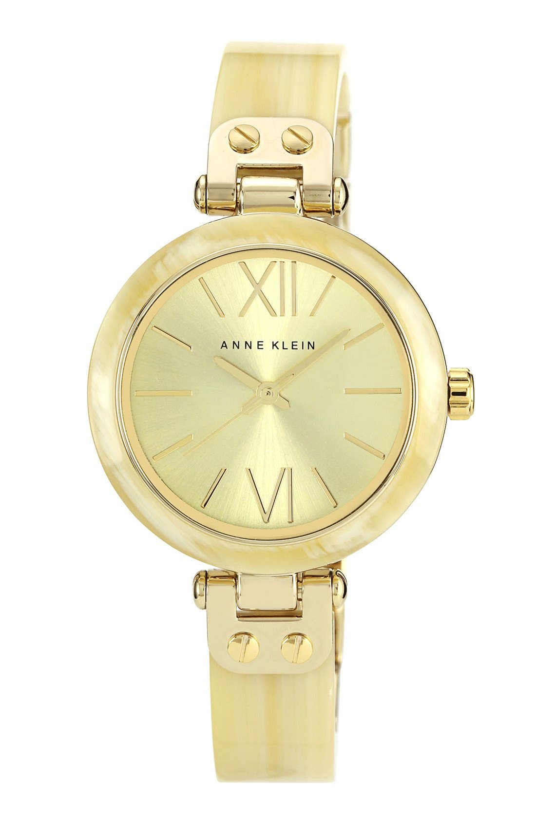Alternate Image 1 Selected - Anne Klein Round Skinny Bangle Watch, 33mm