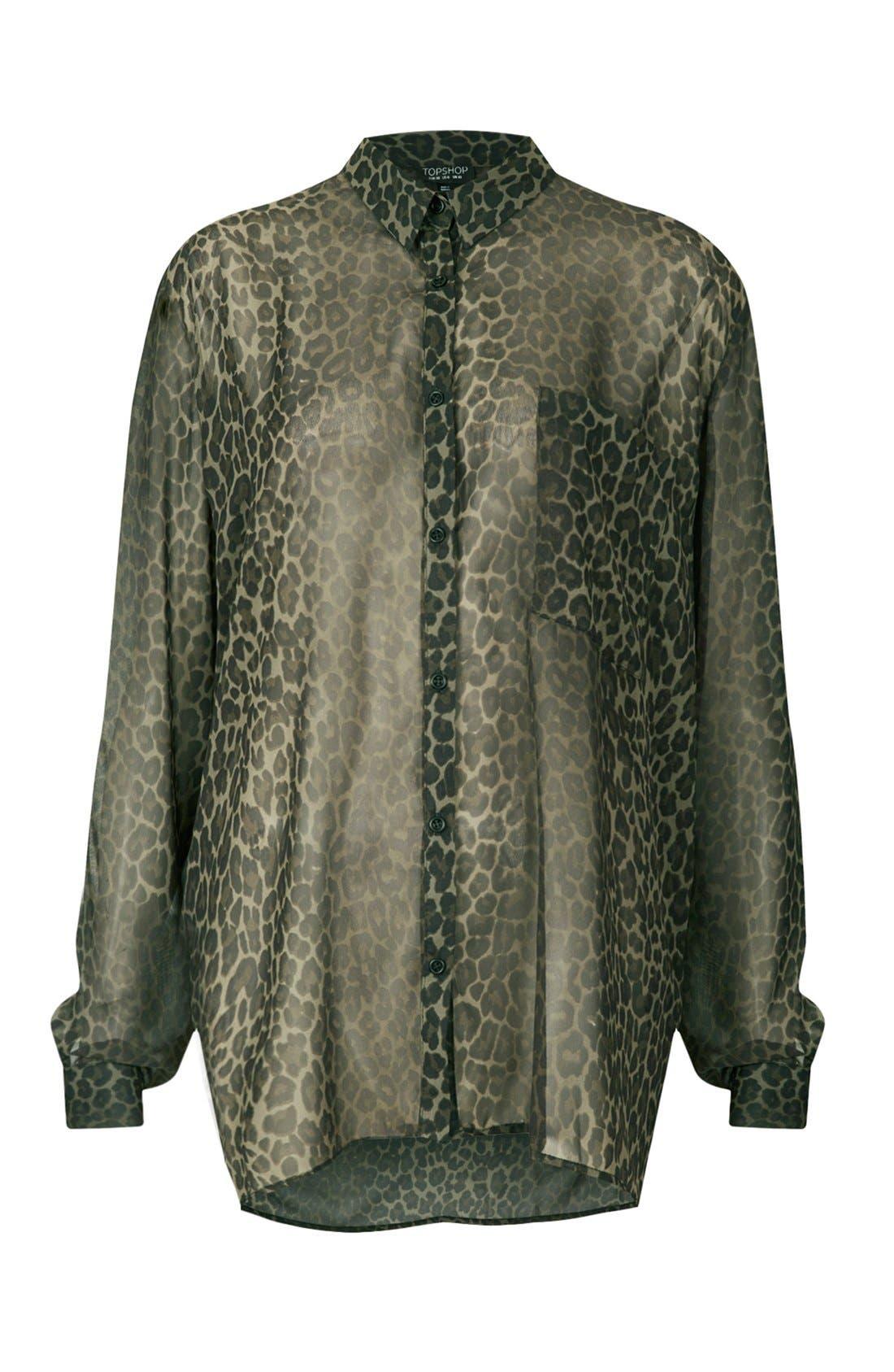 Alternate Image 3  - Topshop Animal Print Oversized Shirt