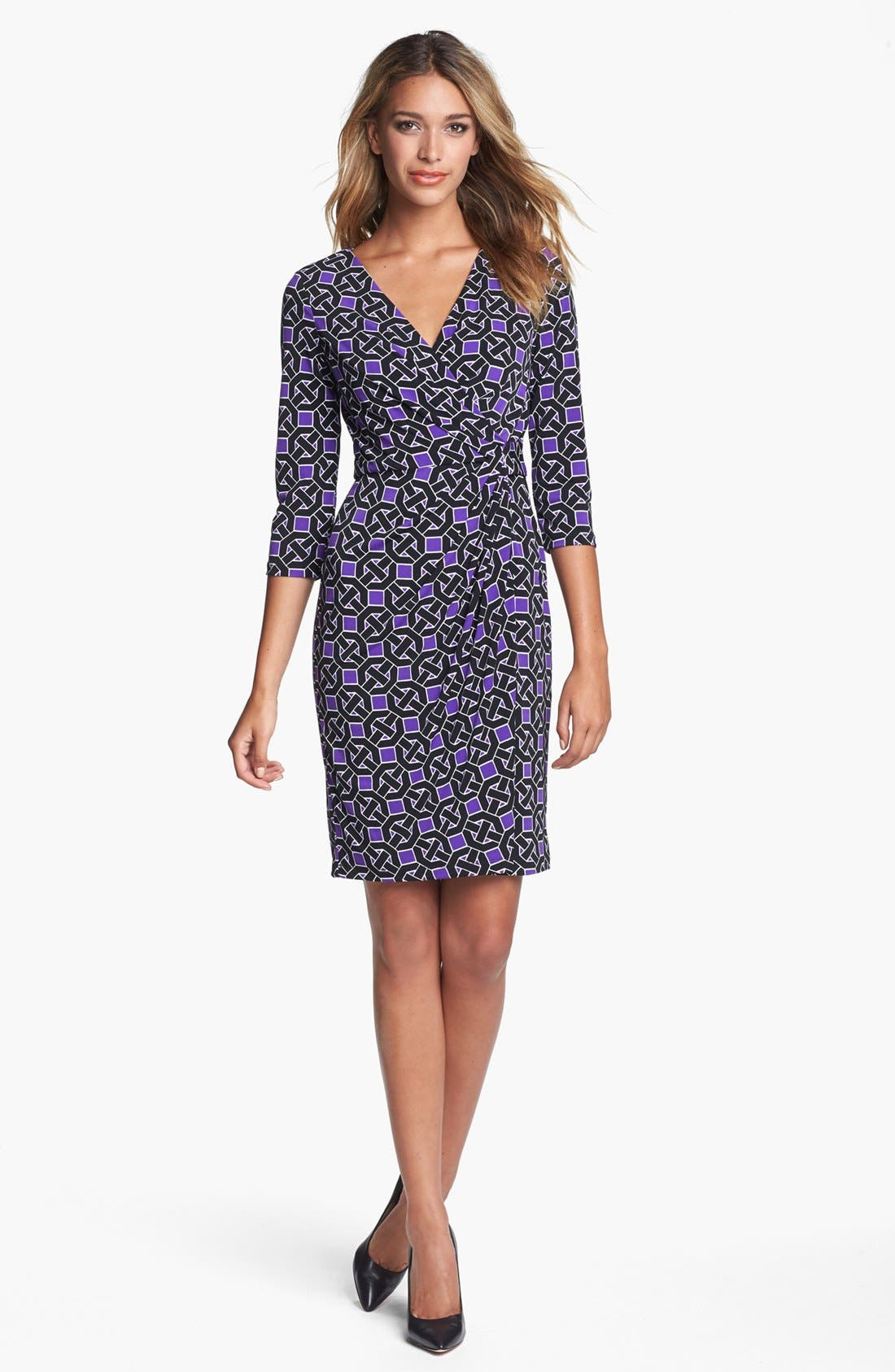 Alternate Image 1 Selected - Maggy London Print Jersey Faux Wrap Dress