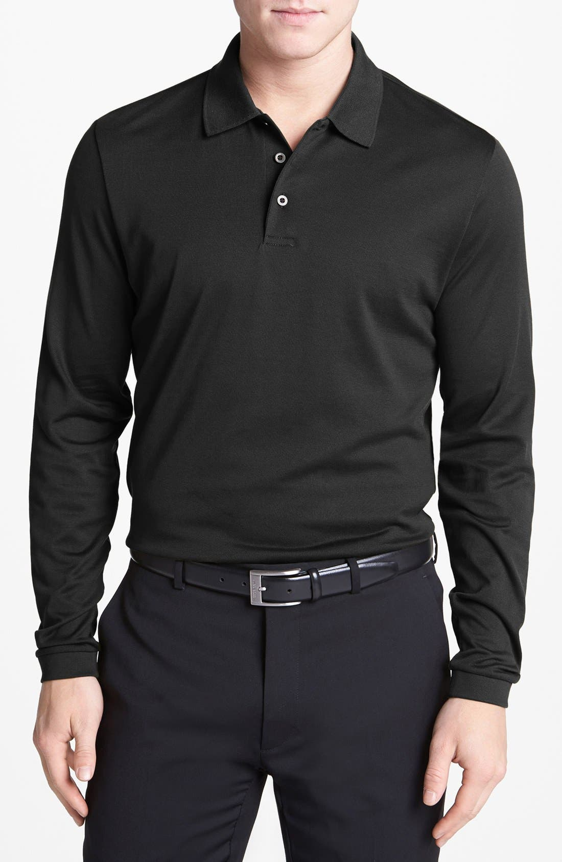 Alternate Image 1 Selected - Robert Barakett 'Palermo' Long Sleeve Jersey Polo