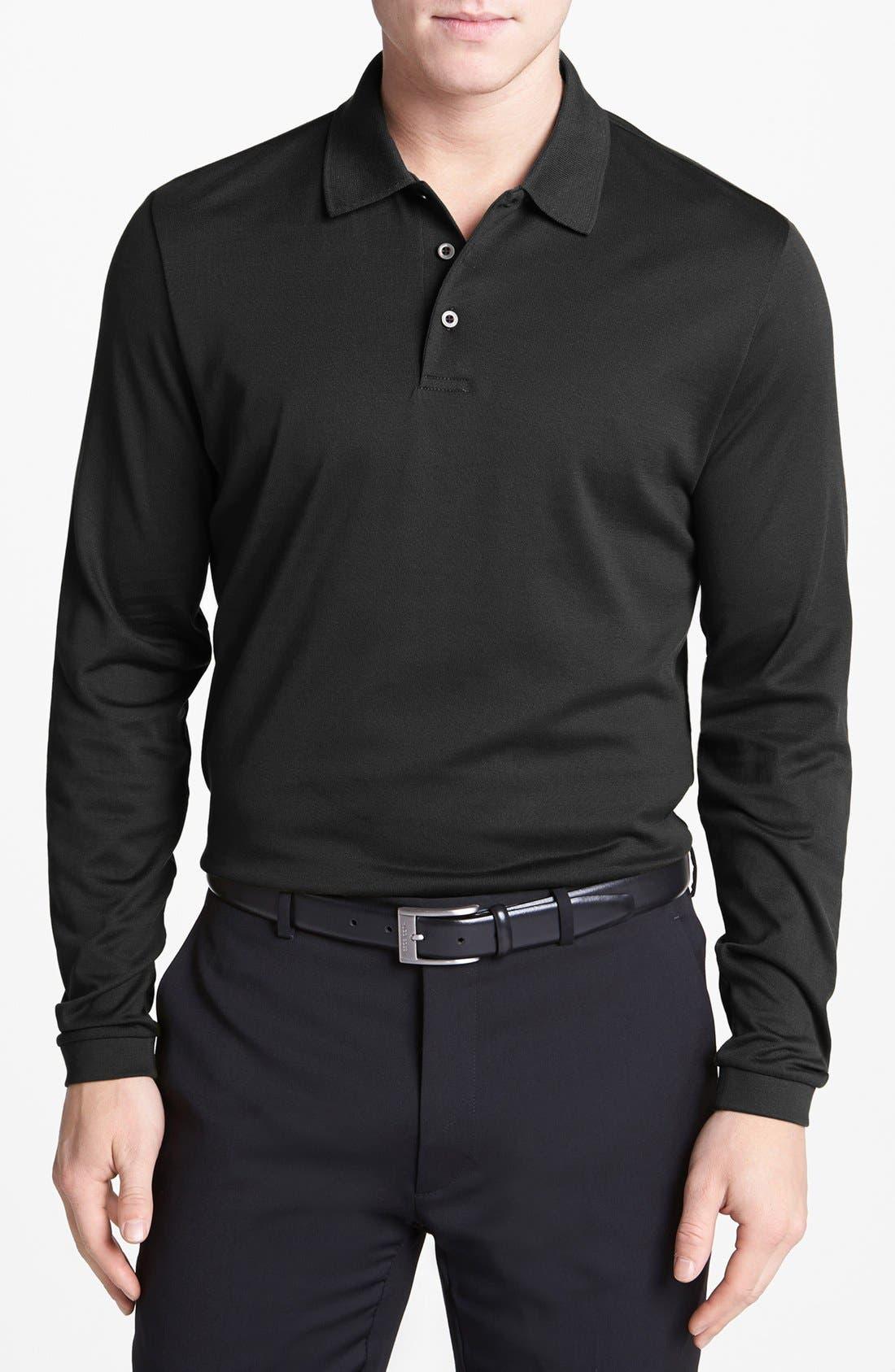 Main Image - Robert Barakett 'Palermo' Long Sleeve Jersey Polo
