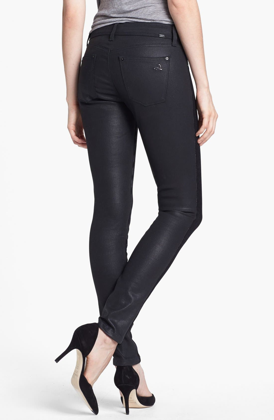 Alternate Image 2  - DL1961 'Emma' Textured Stripe Skinny Jeans (Pandora)