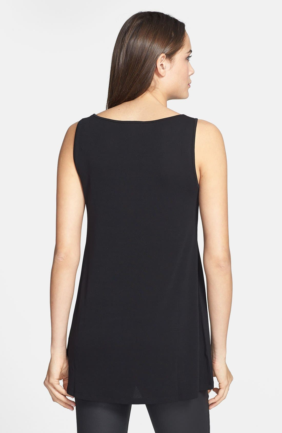 Alternate Image 2  - Eileen Fisher Long Silk Tank