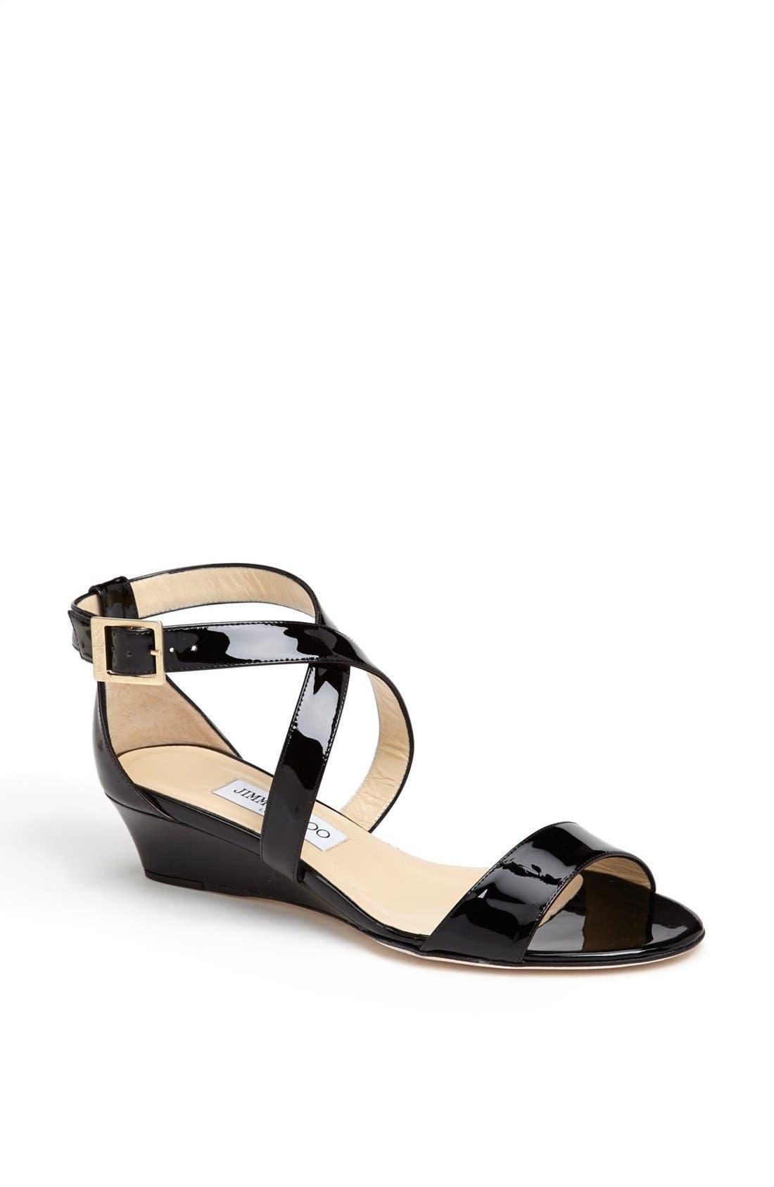 Alternate Image 1 Selected - Jimmy Choo 'Chiara' Strap Wedge Sandal (Women)