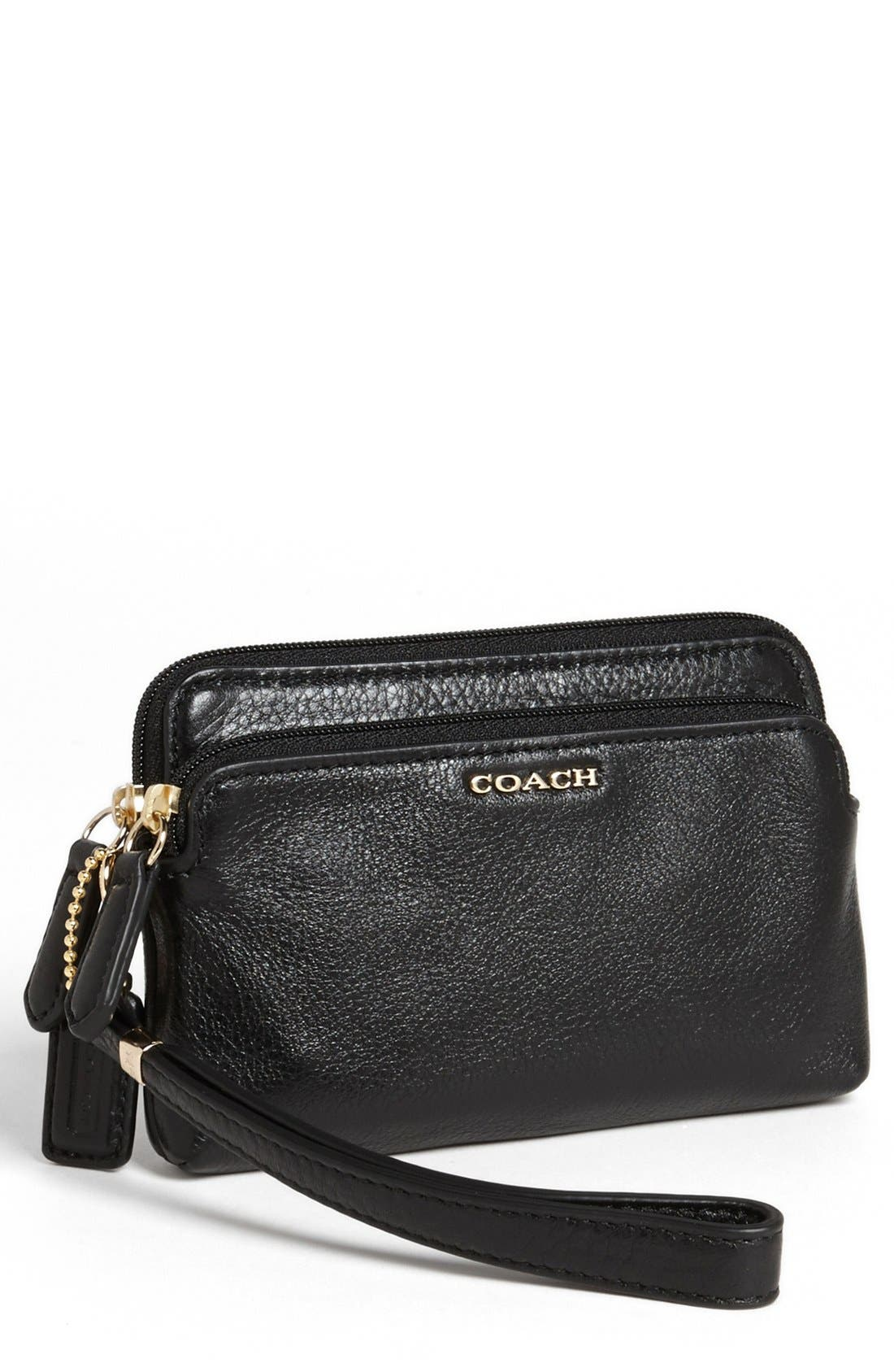 Alternate Image 1 Selected - COACH 'Madison' Leather Wristlet
