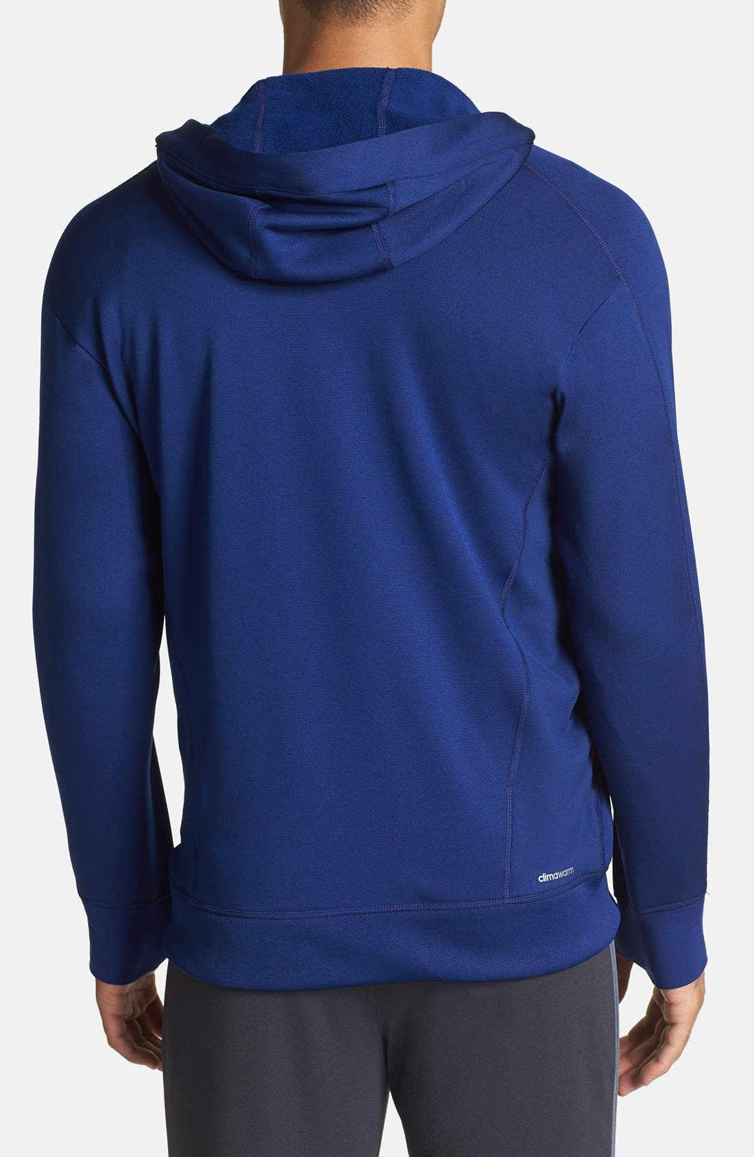 Alternate Image 2  - adidas Full Zip CLIMAWARM™ Hoodie