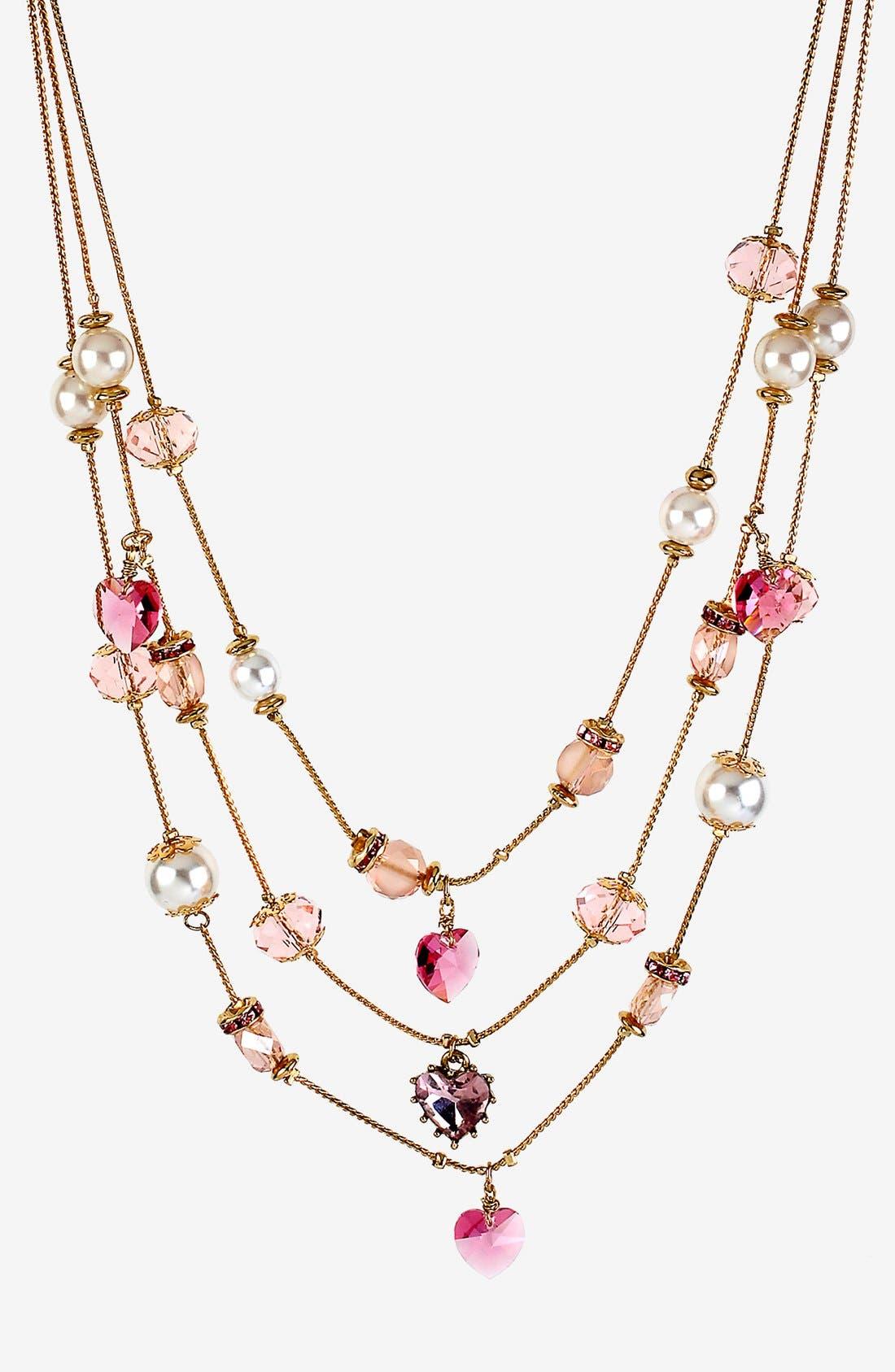 Alternate Image 1 Selected - Betsey Johnson 'Iconic Pinkalicious' Multistrand Necklace