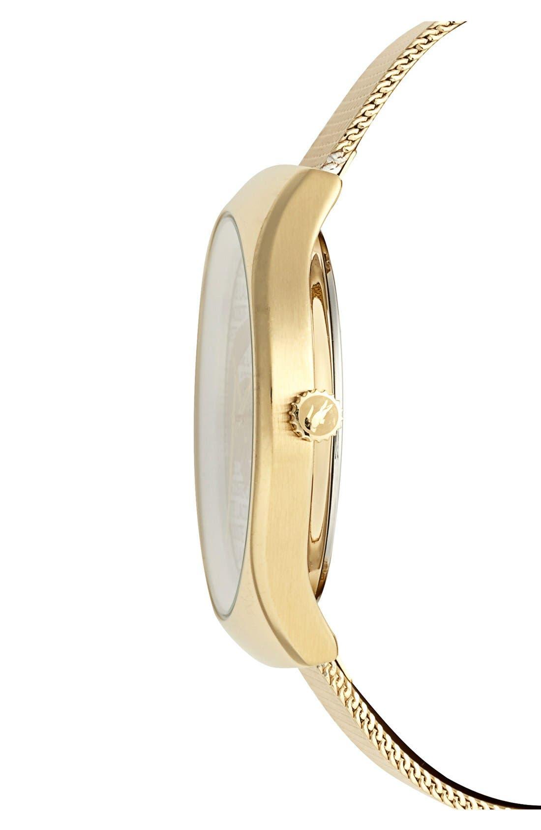 Alternate Image 3  - Lacoste 'Valencia' Logo Dial Mesh Strap Watch, 38mm