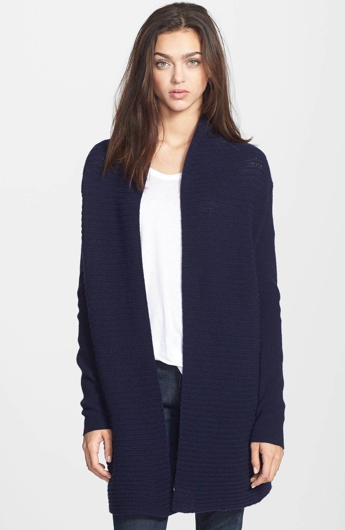 Main Image - Theory 'Dantelle' Open Front Cashmere Cardigan