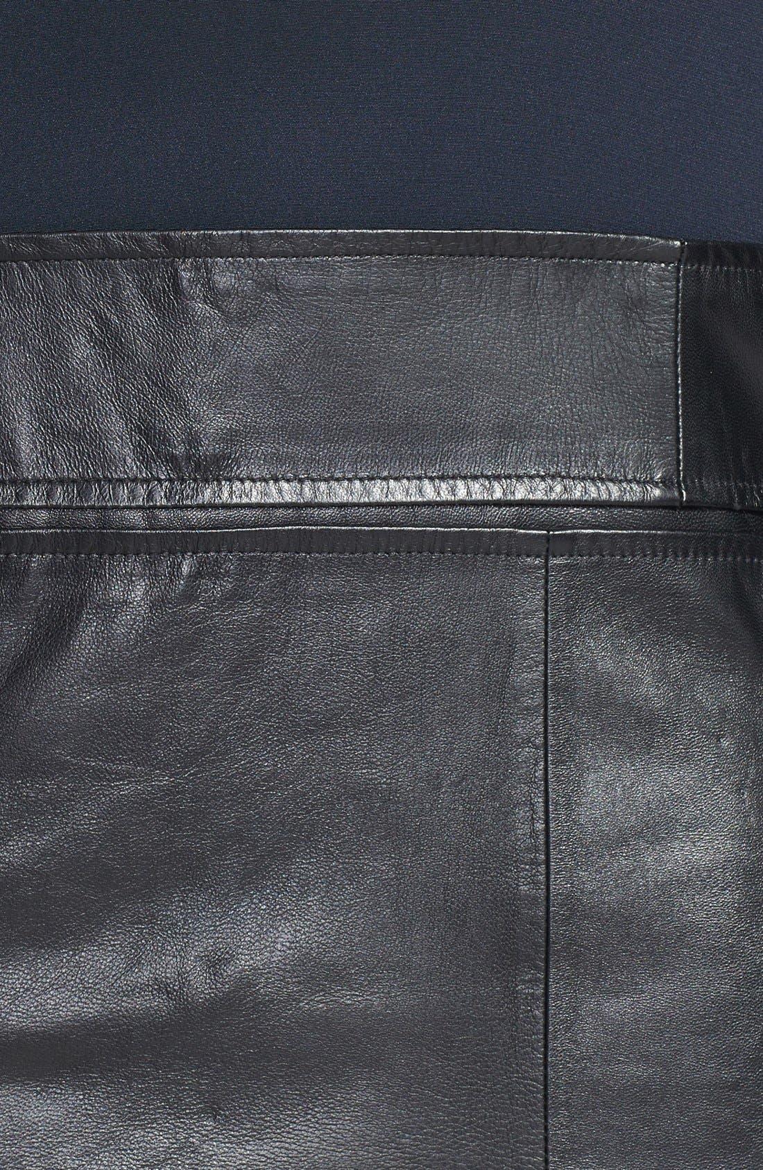 Alternate Image 3  - Theory 'Karlyn' Silk & Leather Shift Dress