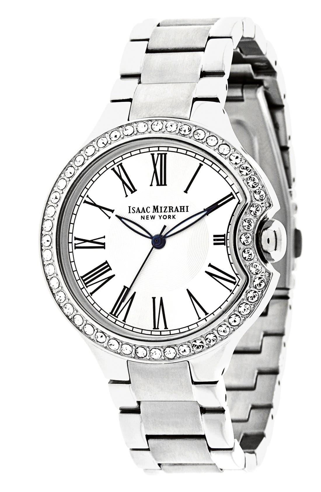 Alternate Image 1 Selected - Isaac Mizrahi New York Round Roman Numeral Bracelet Watch, 38mm