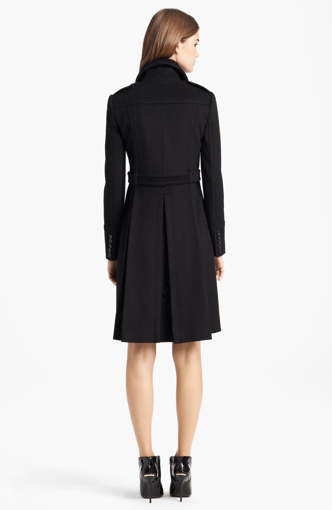 Alternate Image 2  - Burberry London Pleated Back Wool & Cashmere Coat