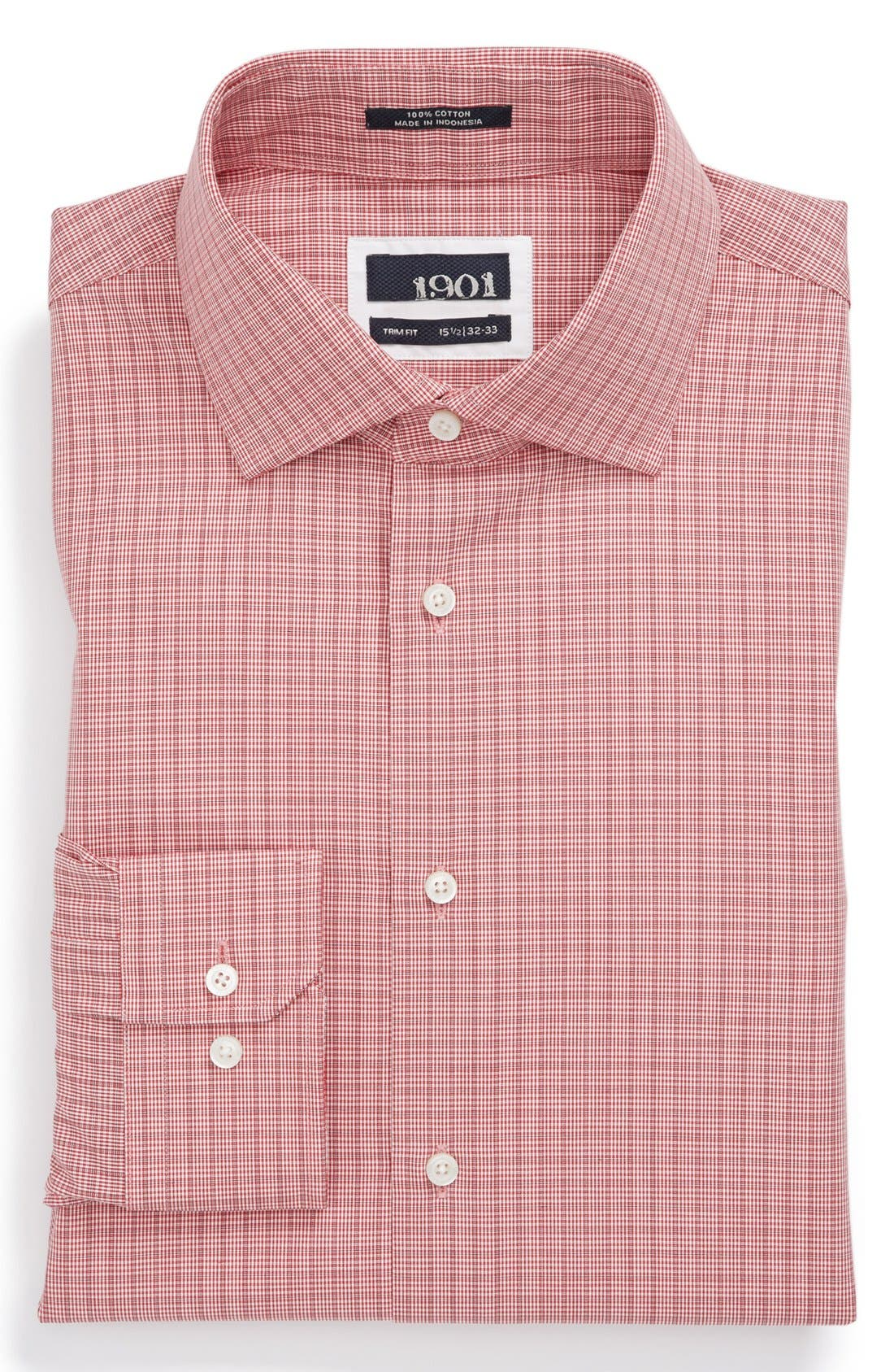 Main Image - 1901 Trim Fit Plaid Dress Shirt