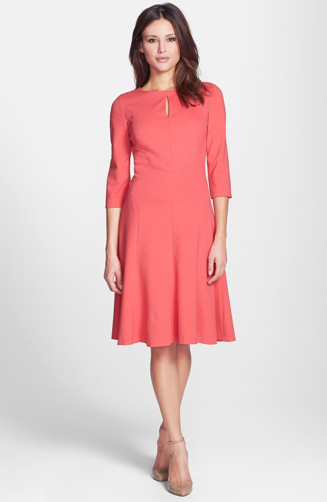 Alternate Image 1 Selected - Classiques Entier® Ponte Fit & Flare Dress