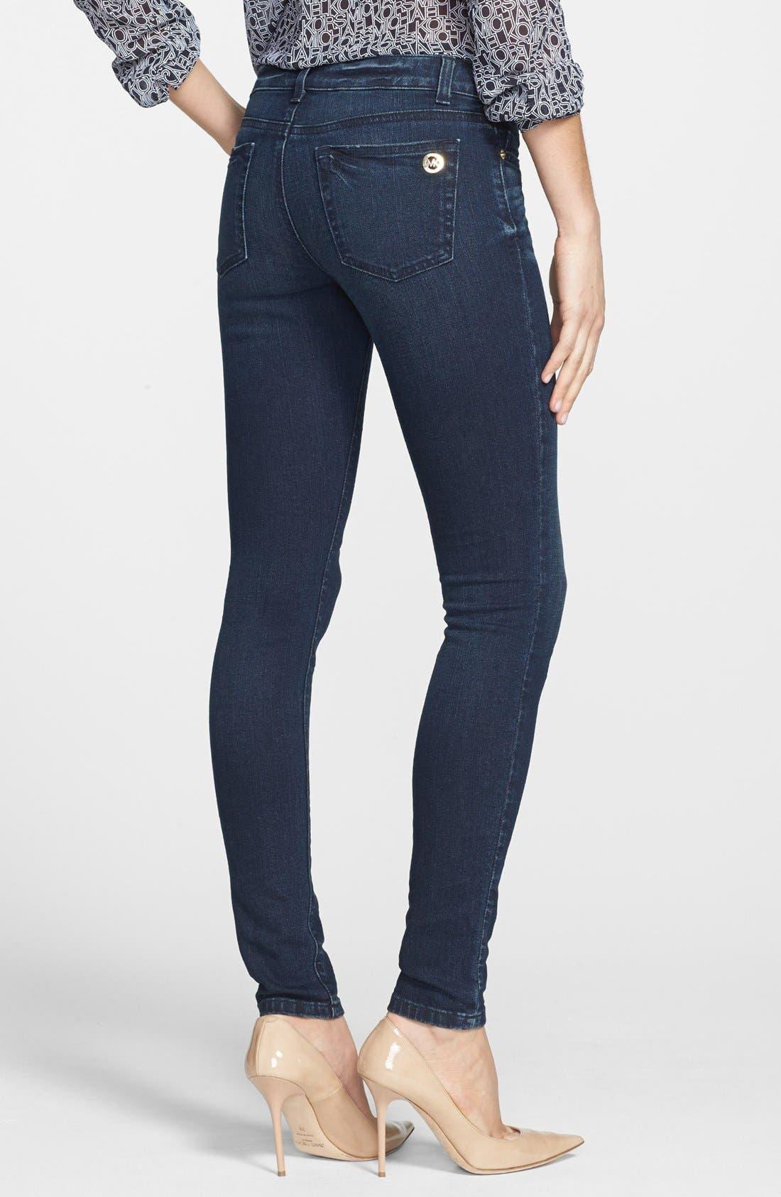 Alternate Image 2  - MICHAEL Michael Kors 'Jetset' Stretch Skinny Jeans (Stellar)