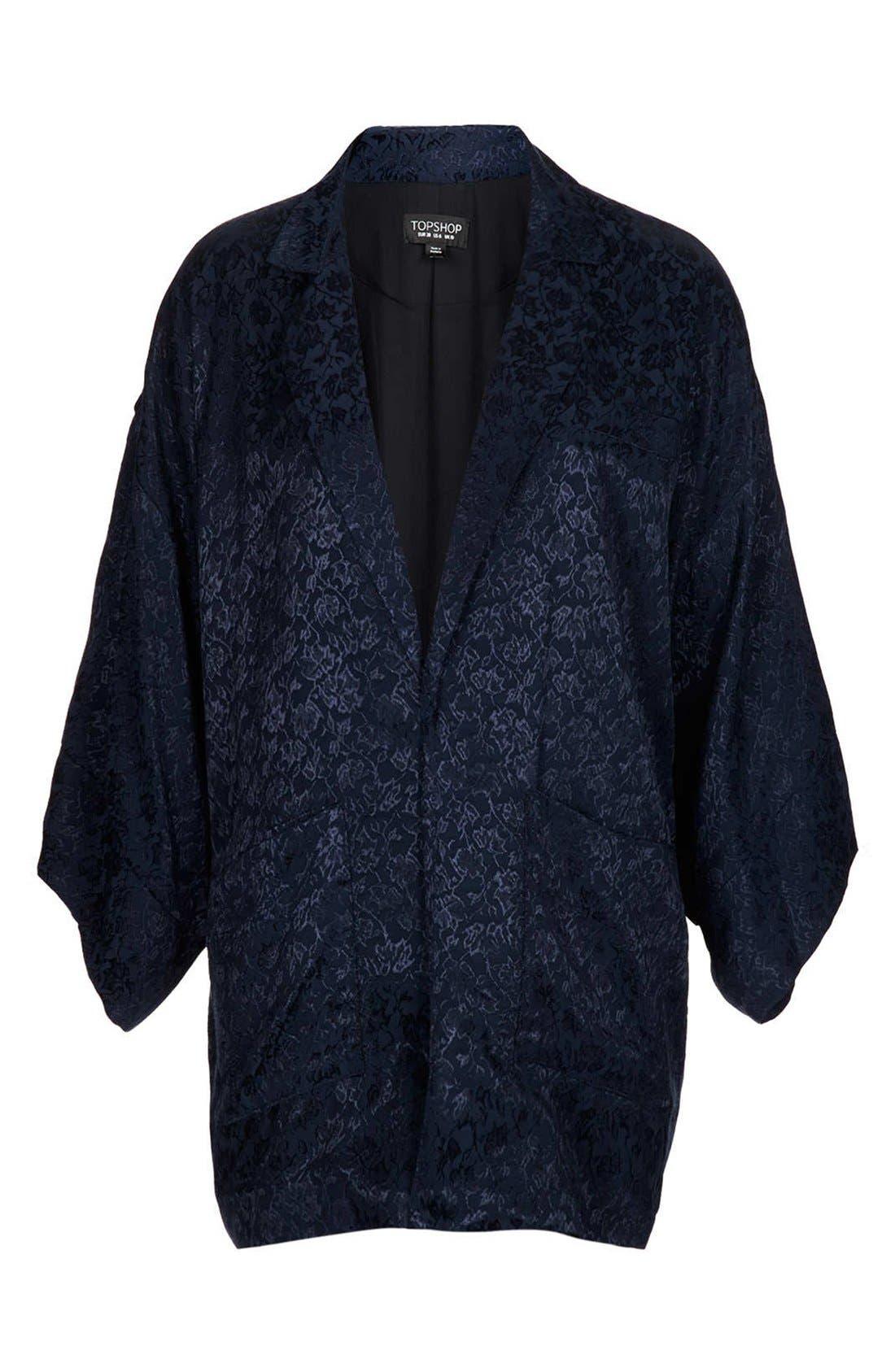 Alternate Image 3  - Topshop Floral Jacquard Kimono Jacket