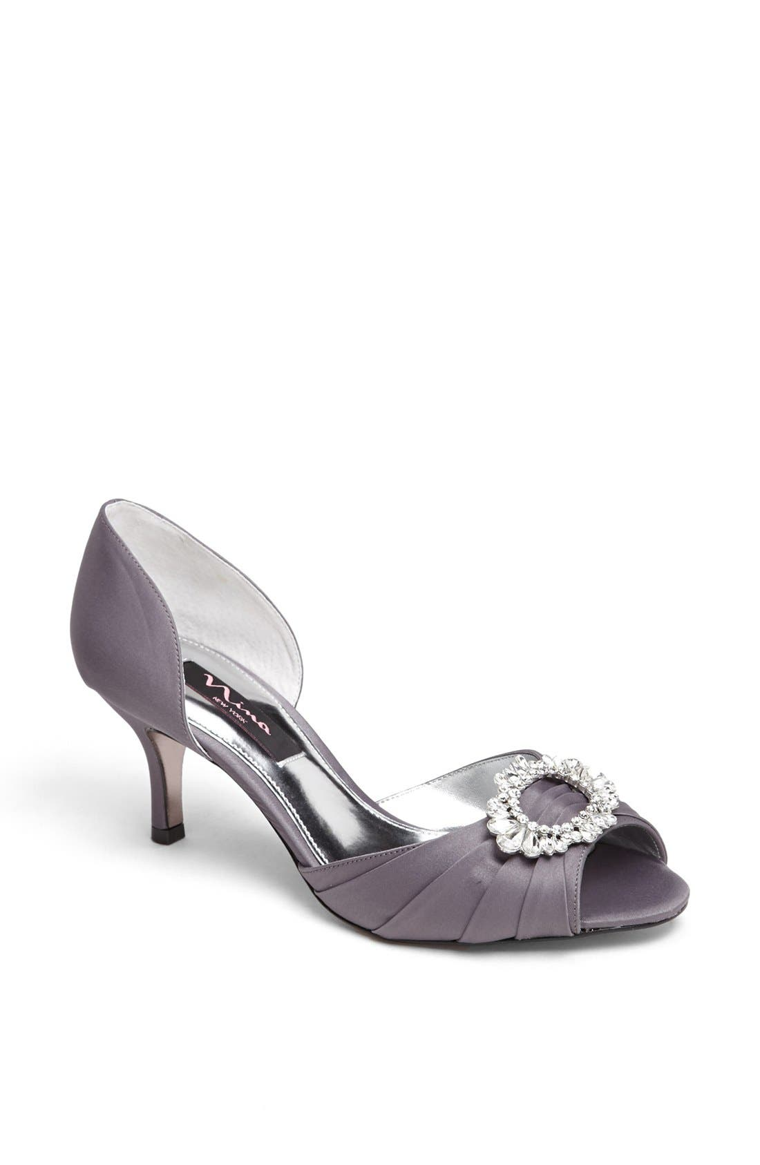 Nina 'Crystah' Embellished Satin Pump