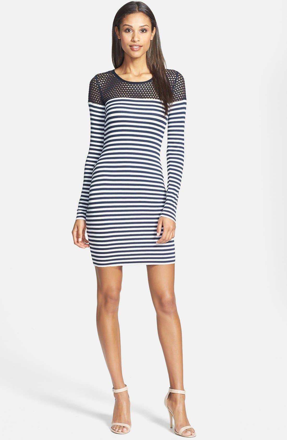 Alternate Image 1 Selected - B44 Dressed by Bailey 44 'Open Net' Stripe Jersey Dress
