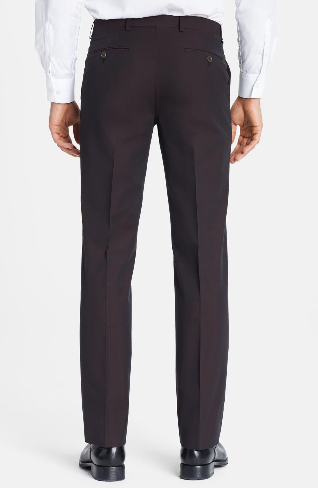 Alternate Image 2  - John Varvatos Star USA Flat Front Trousers