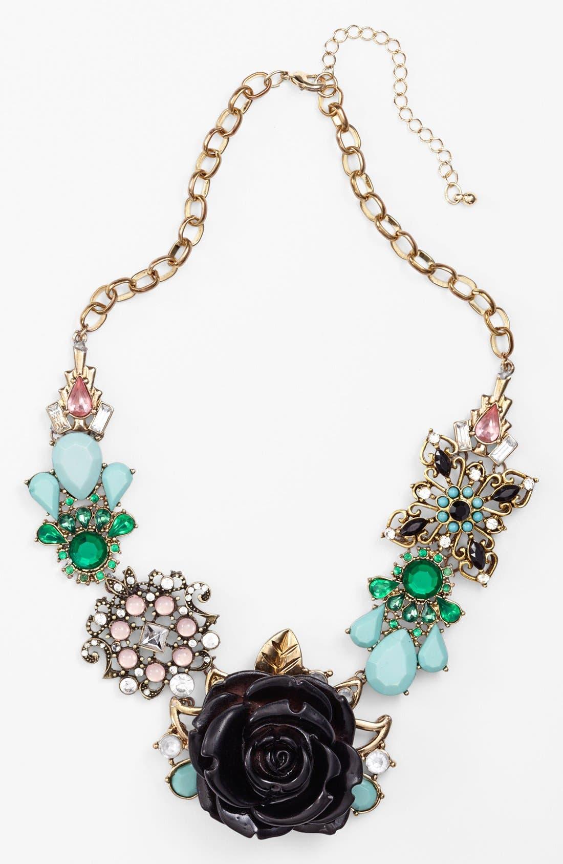 Alternate Image 1 Selected - Spring Street Floral Statement Necklace