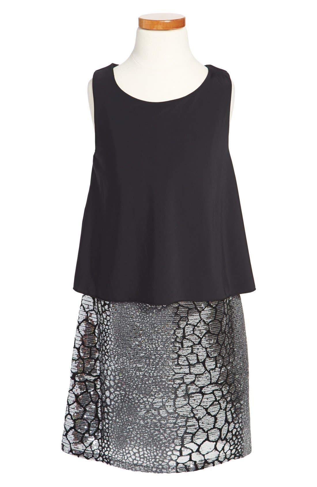 Main Image - Laundry by Shelli Segal Sleeveless Dress (Big Girls)