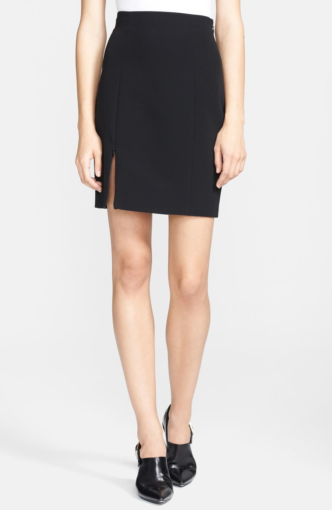 Alternate Image 1 Selected - T by Alexander Wang Techno Pencil Skirt