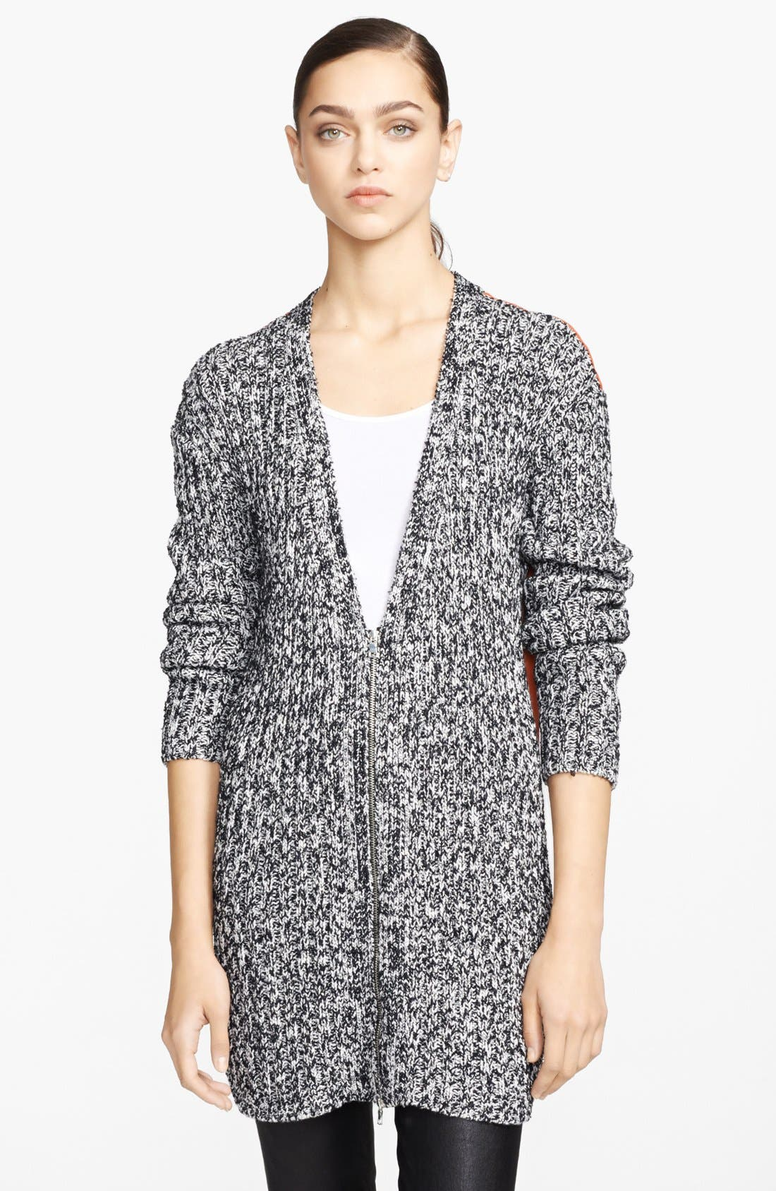 Alternate Image 1 Selected - Robert Rodriguez Woven Back Tweed Cardigan