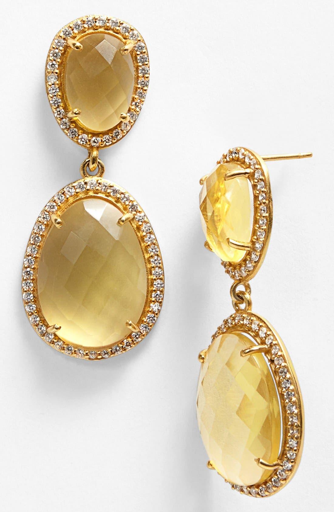 Alternate Image 1 Selected - NuNu Designs Stone Drop Earrings
