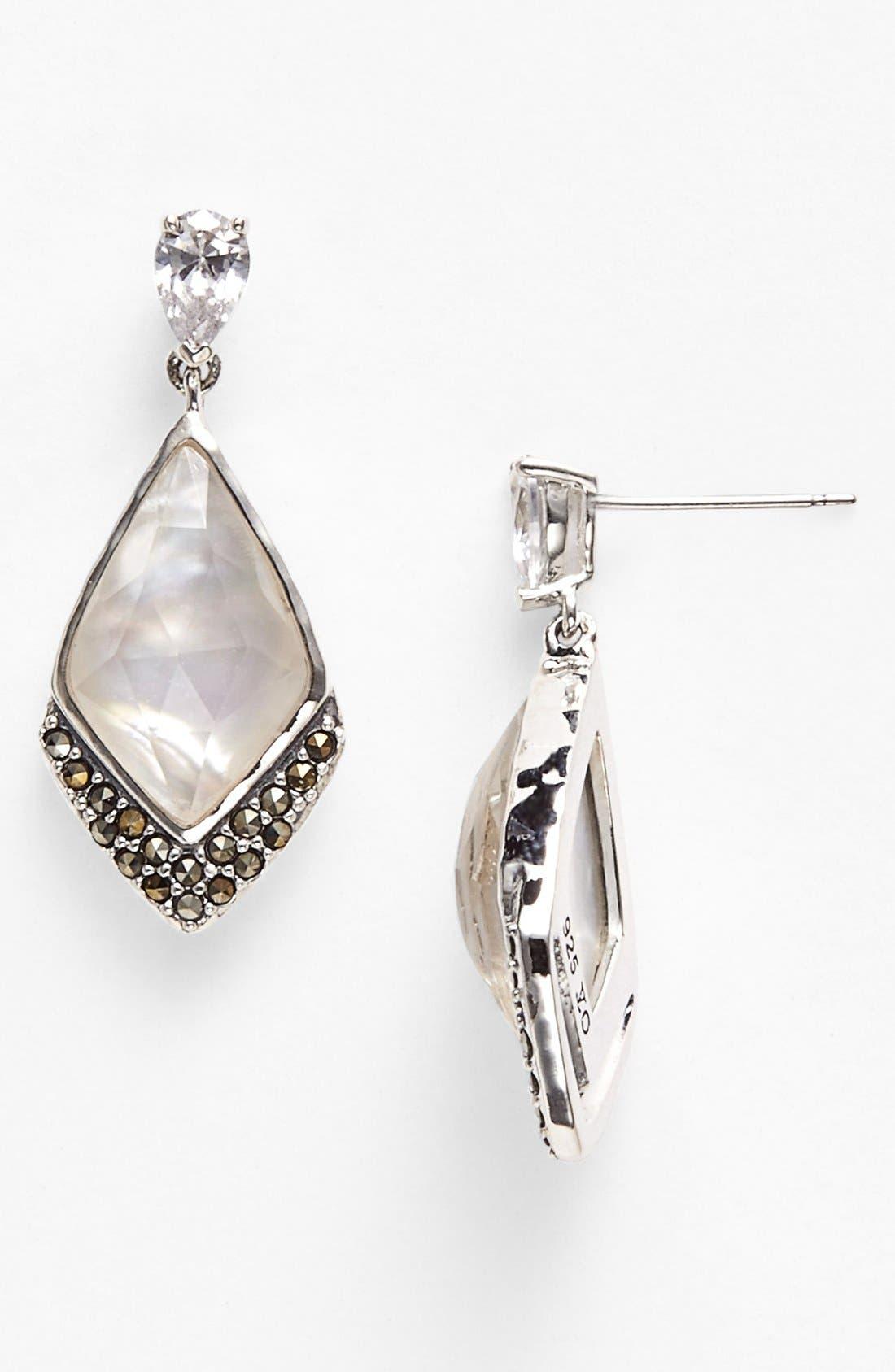 Alternate Image 1 Selected - Judith Jack 'Elegante' Stone Drop Earrings