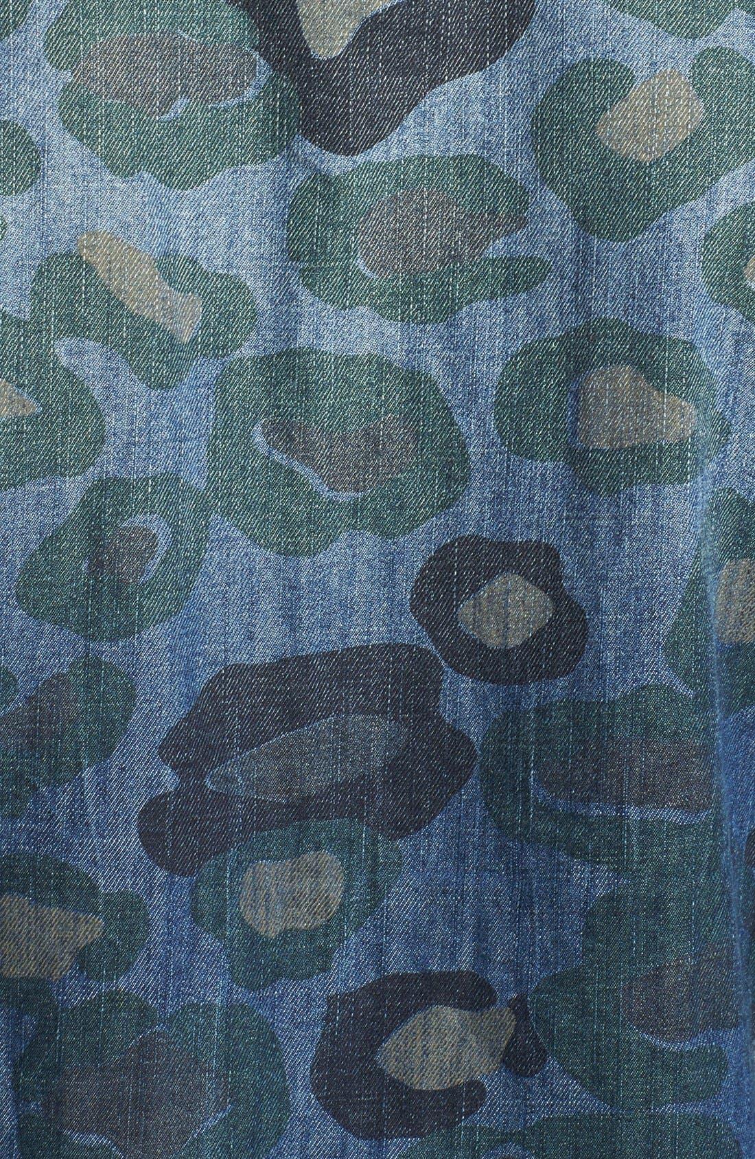 Alternate Image 3  - ZANEROBE 'Cats with Guns' Camo Print Denim Shirt