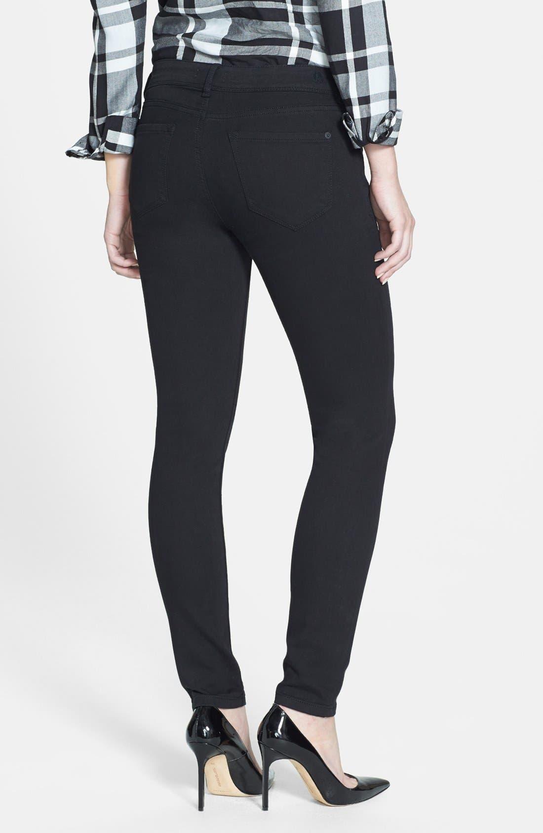 Alternate Image 2  - kensie 'You Look Pretty' Stretch Denim Skinny Jeans (Black)