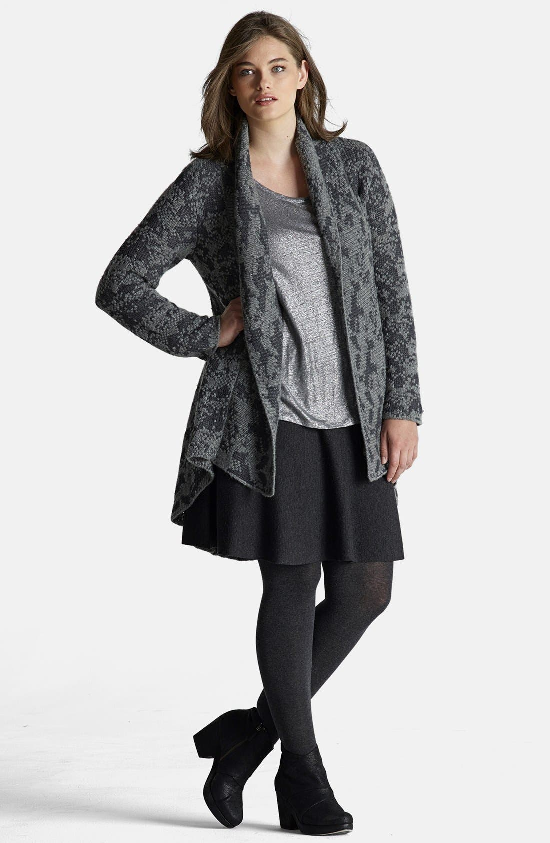 Alternate Image 4  - Eileen Fisher Shawl Collar Cardigan (Plus Size)