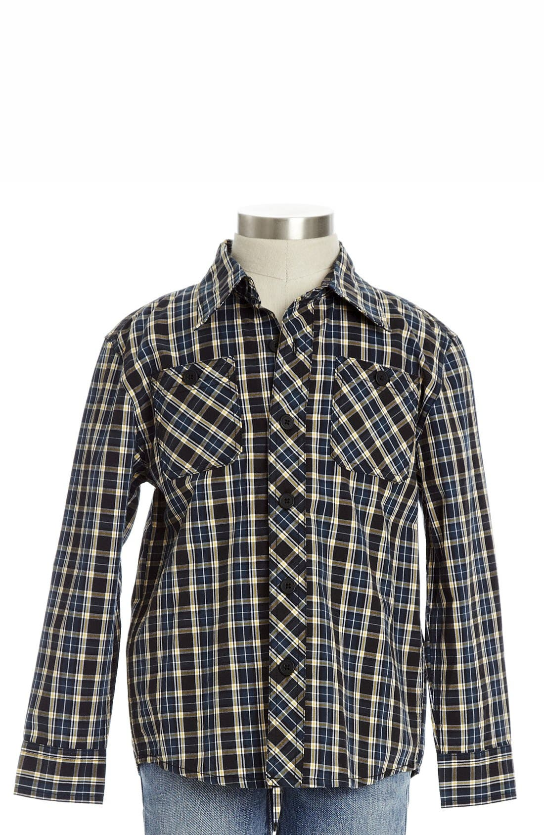 Alternate Image 1 Selected - Peek 'Costas' Utility Shirt (Toddler Boys, Little Boys & Big Boys)