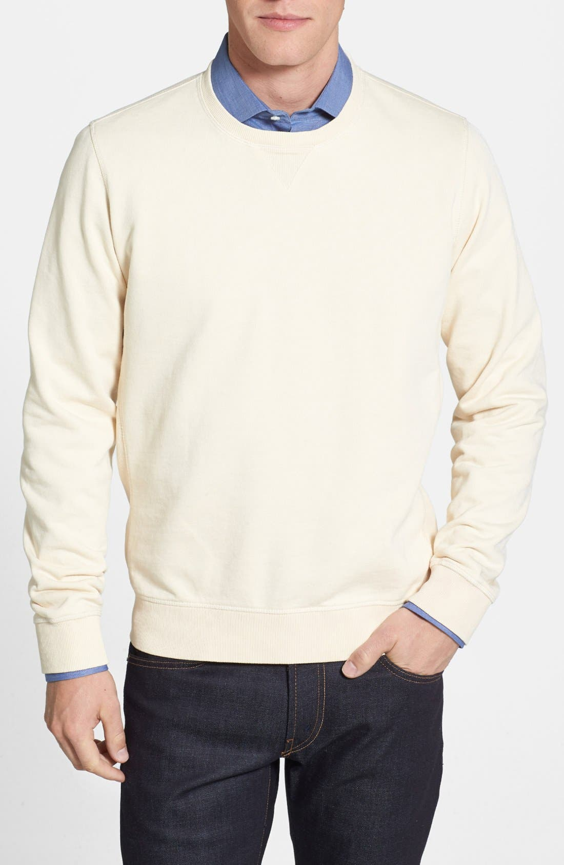 Main Image - AG French Terry Crewneck Sweatshirt