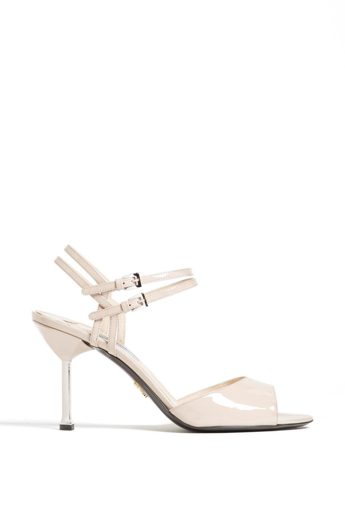 Alternate Image 4  - Prada Double Ankle Buckle Metal Heel Sandal