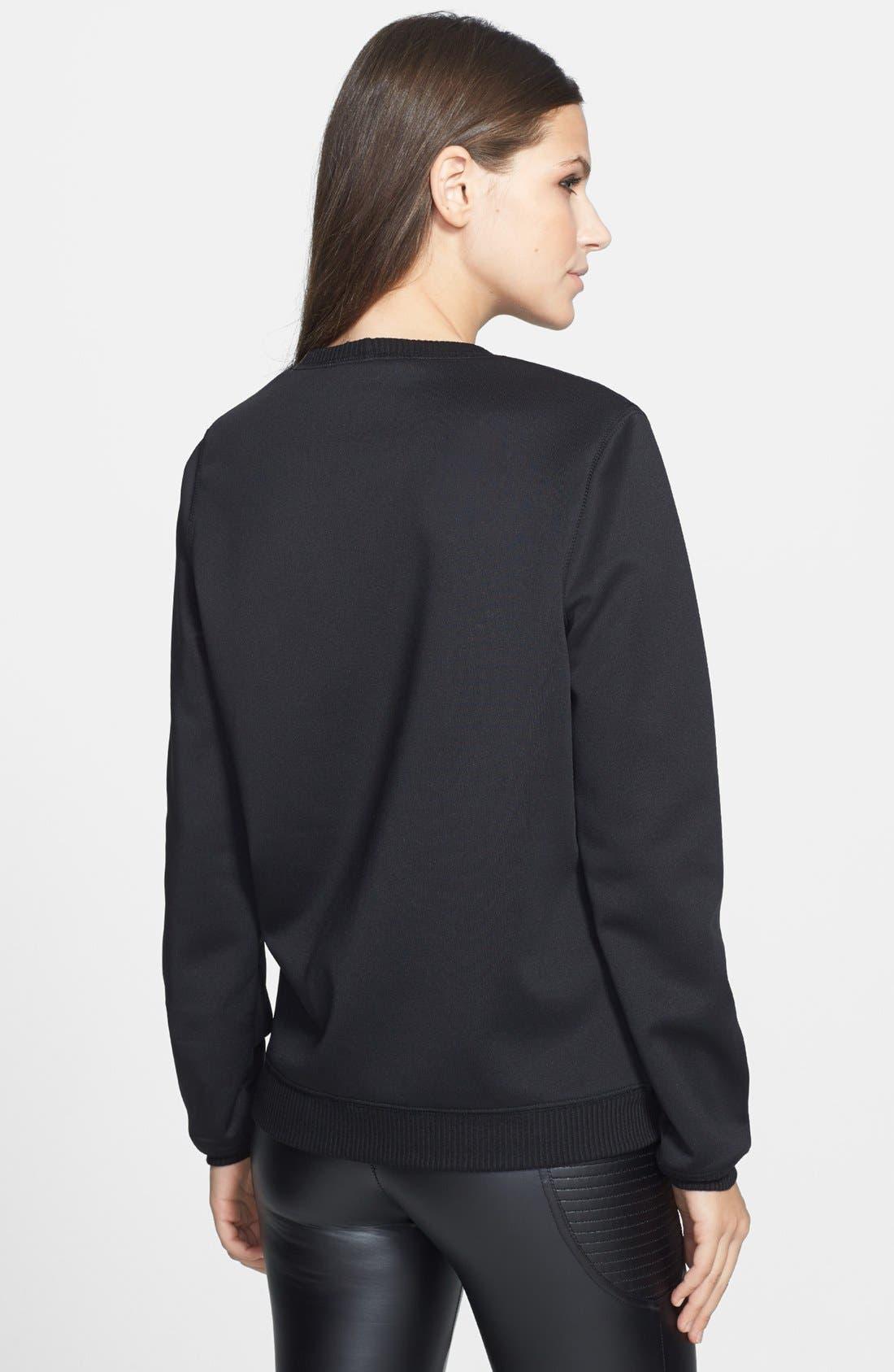 Alternate Image 2  - WAYF Graphic Print Neoprene Sweatshirt
