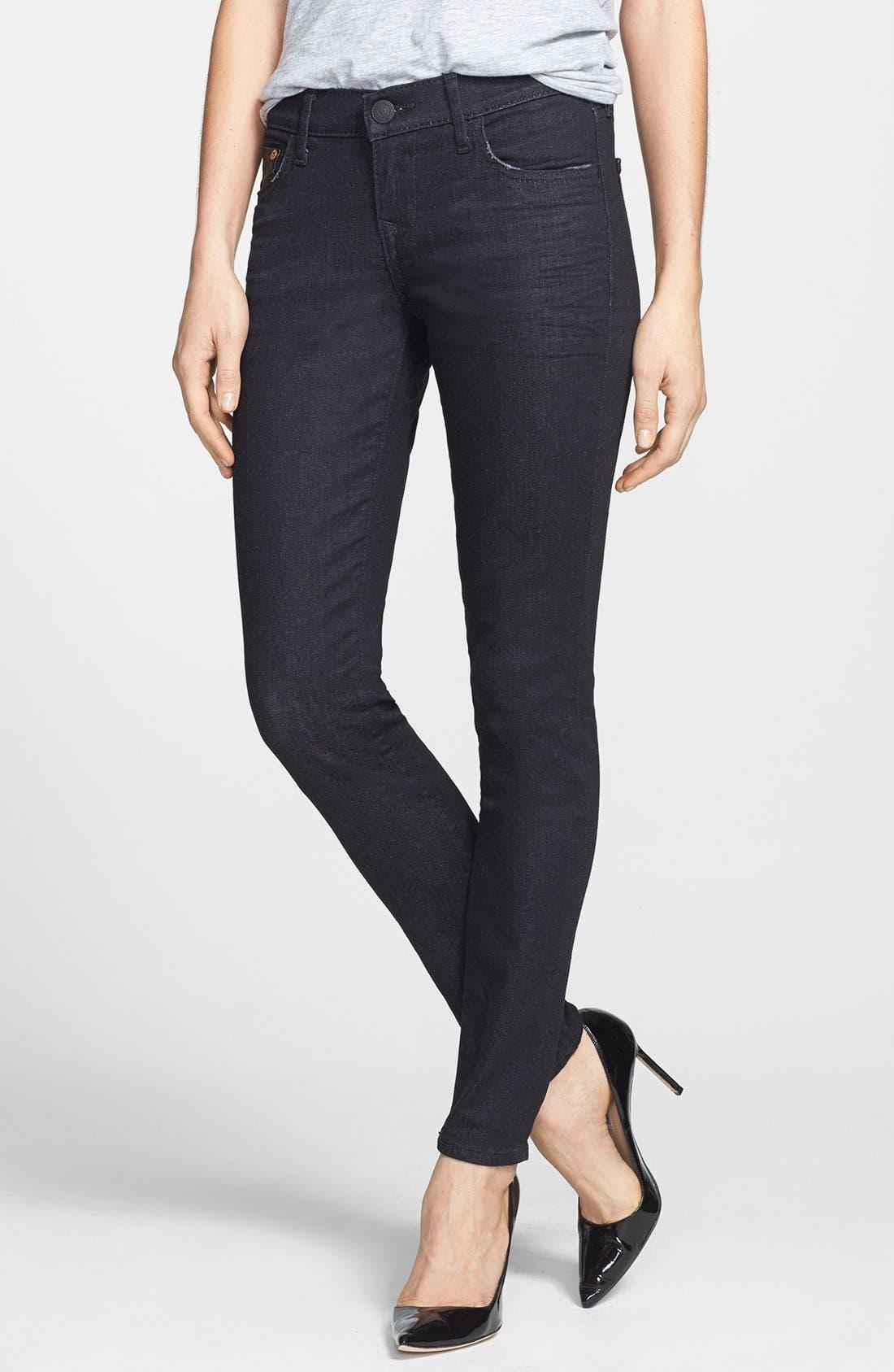 Alternate Image 1 Selected - True Religion Brand Jeans 'Casey' Skinny Jeans (Black Smoke Vintage)