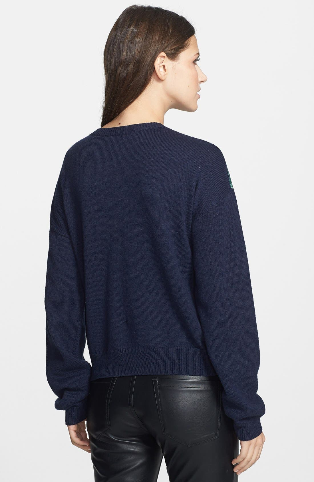 Alternate Image 2  - Leith Metallic Front Pullover