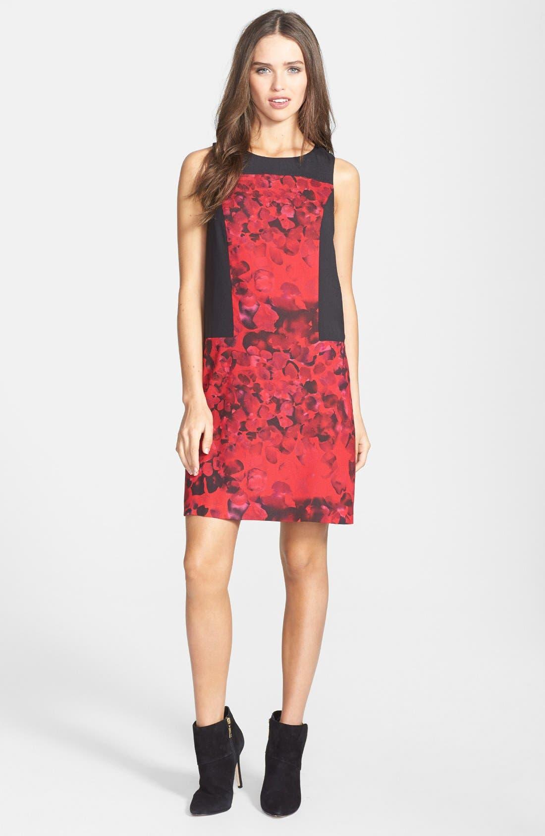 Main Image - kensie 'Petals' Crepe Shift Dress