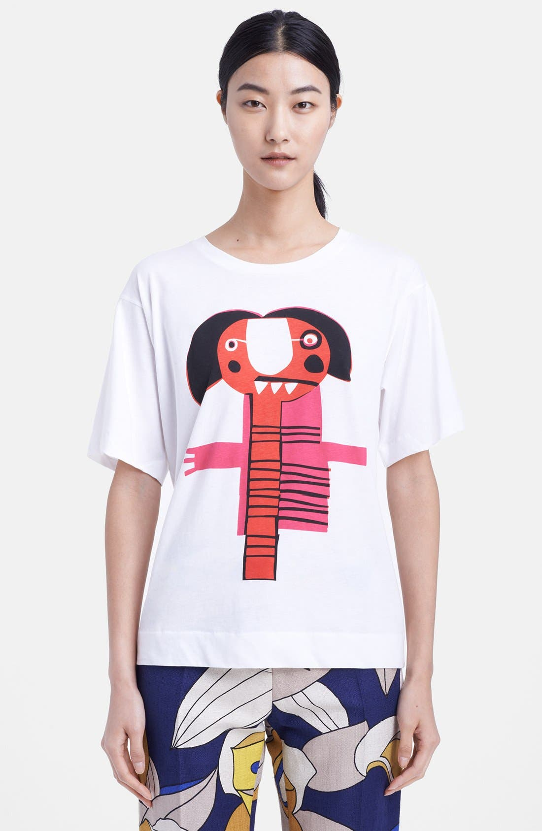 Alternate Image 1 Selected - Marni Graphic Cotton Tee