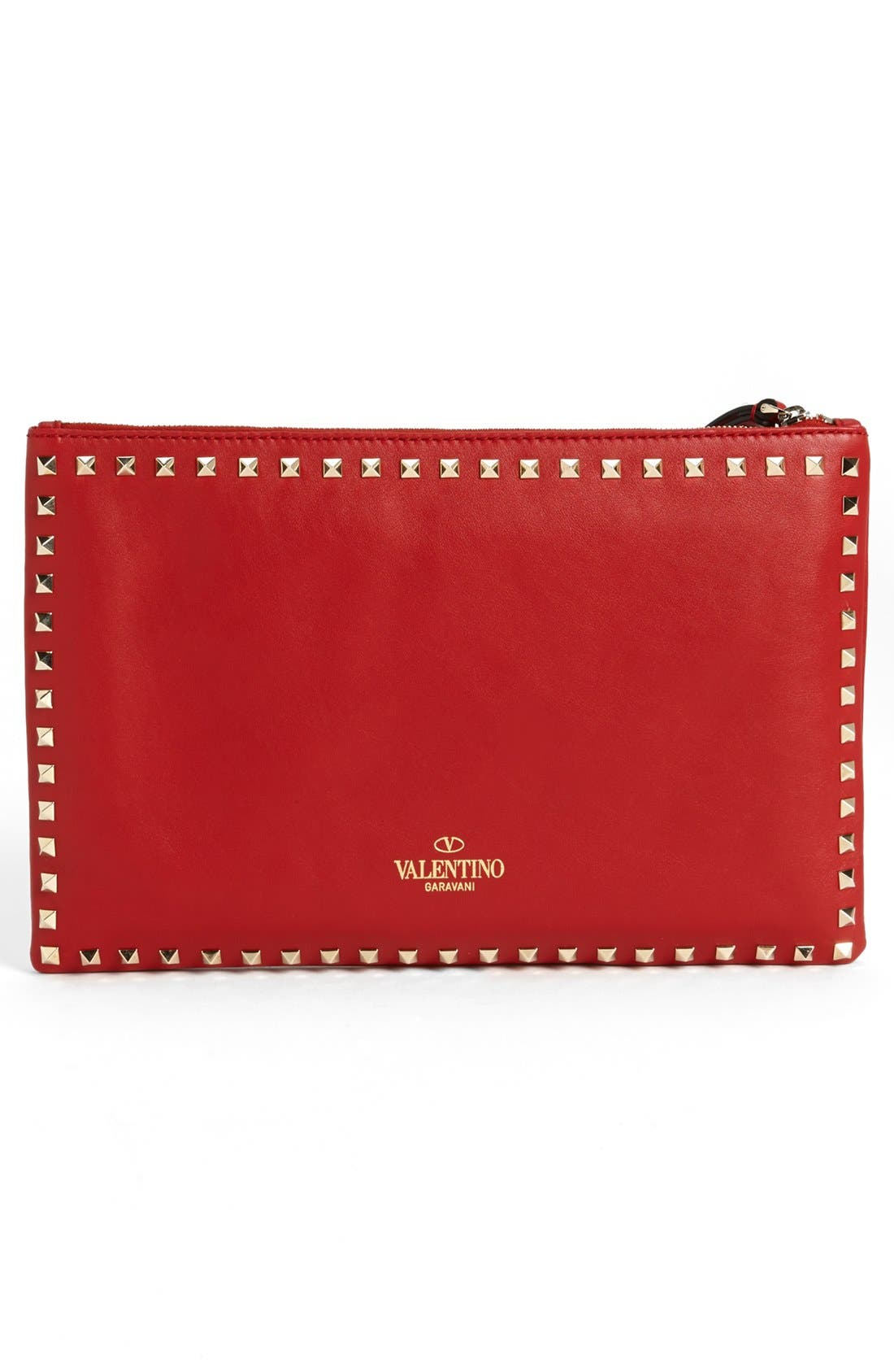 Alternate Image 3  - Valentino 'Rockstud - Flat' Nappa Leather Clutch