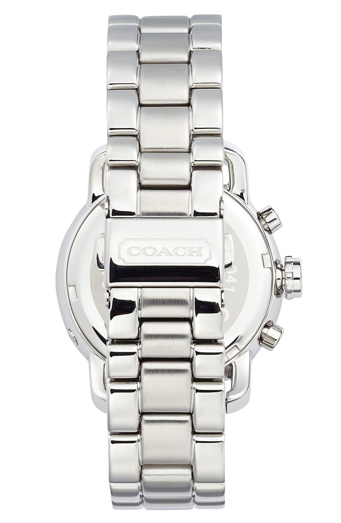 Alternate Image 2  - COACH 'Legacy Sport' Crystal Bezel Bracelet Watch, 36mm
