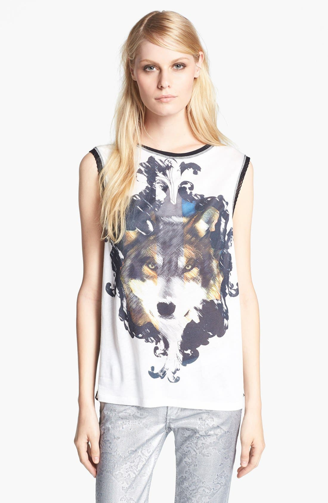 Alternate Image 1 Selected - Faith Connexion Wolf Print Tank