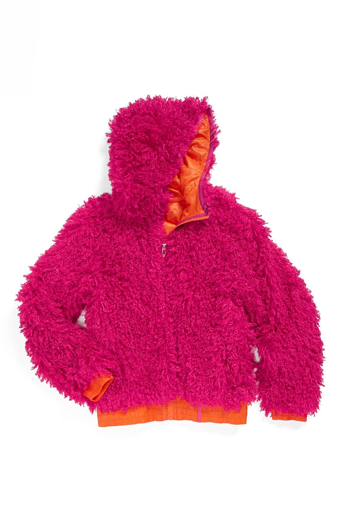 Alternate Image 2  - Spyder High-Pile Reversible Quilted Fleece Jacket (Big Girls)