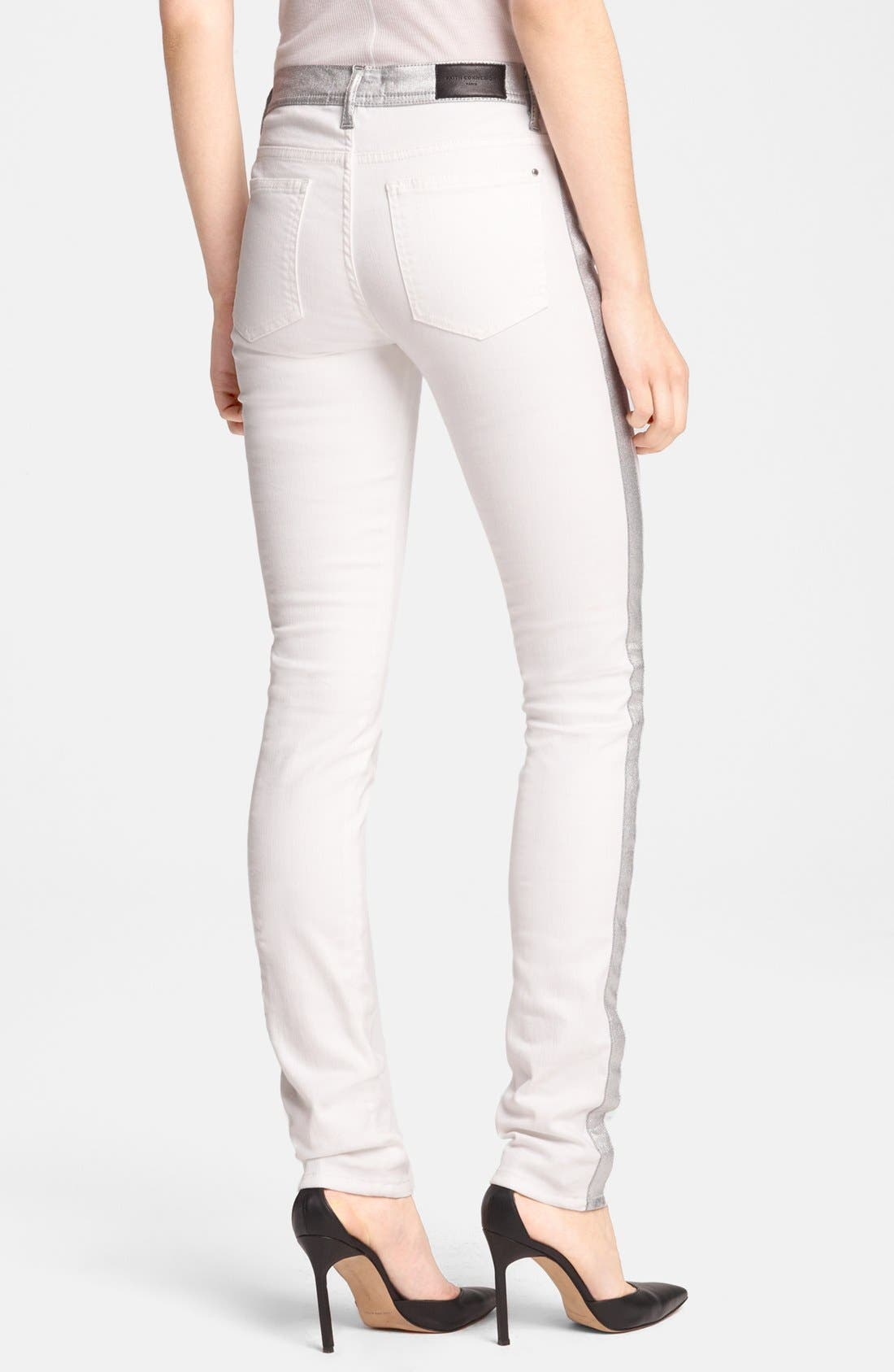Alternate Image 2  - Faith Connexion Metallic Trim Skinny Jeans