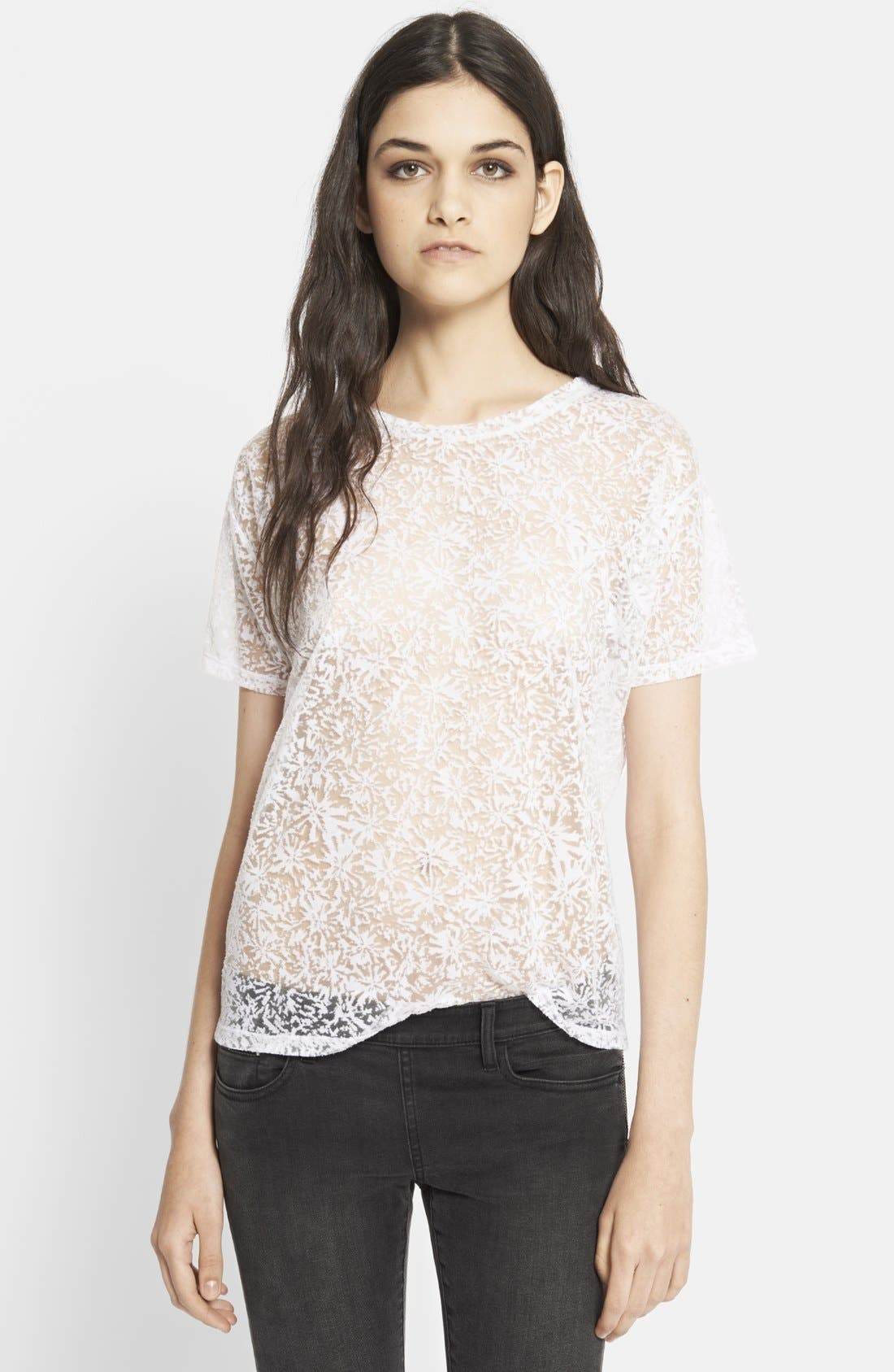 Alternate Image 1 Selected - The Kooples Diamond Burnout Tee