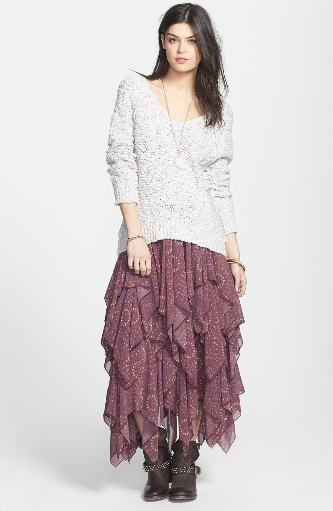 Alternate Image 1 Selected - Free People 'Songbird' Sheer Sweater