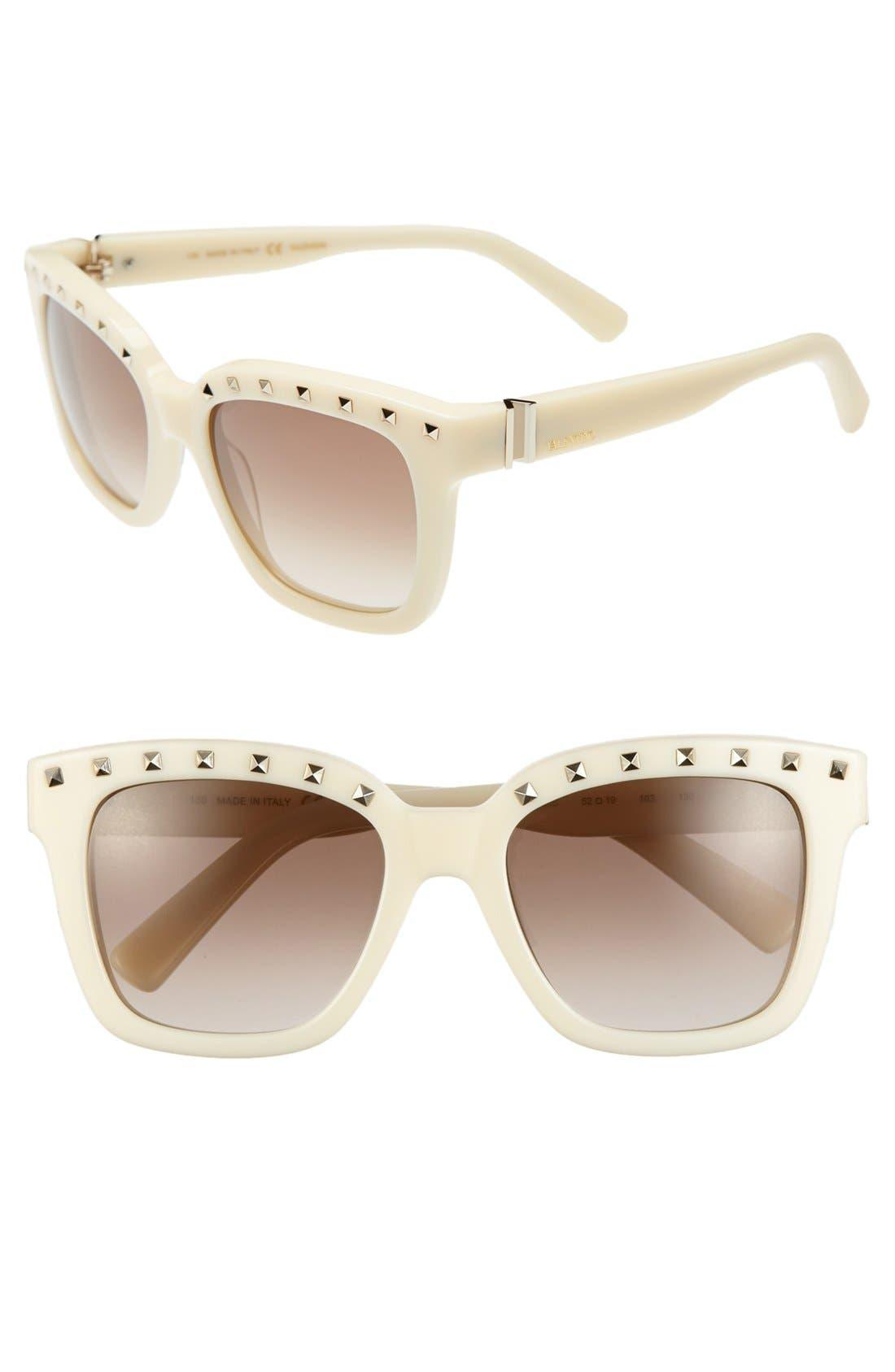 Main Image - Valentino 'Rockstud' 52mm Sunglasses